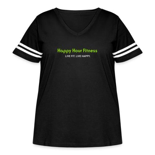 HHF_logotypeandtag - Women's Curvy Vintage Sport T-Shirt