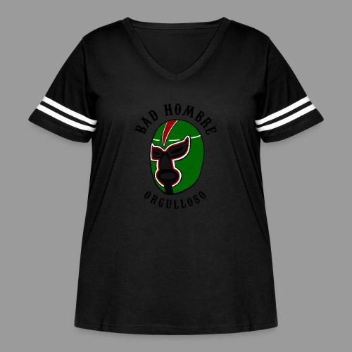 Proud Bad Hombre (Bad Hombre Orgulloso) - Women's Curvy Vintage Sport T-Shirt