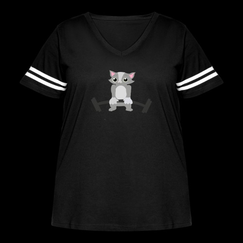 Muscle Cat - Women's Curvy Vintage Sport T-Shirt