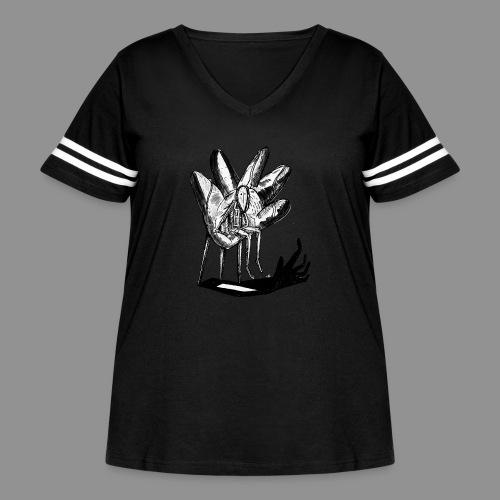 Wolfman Originals Black & White 17 - Women's Curvy Vintage Sport T-Shirt