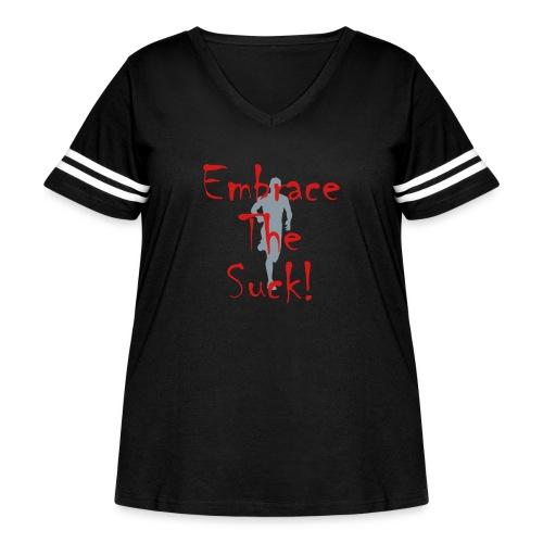 EMBRACE THE SUCK - Women's Curvy Vintage Sport T-Shirt