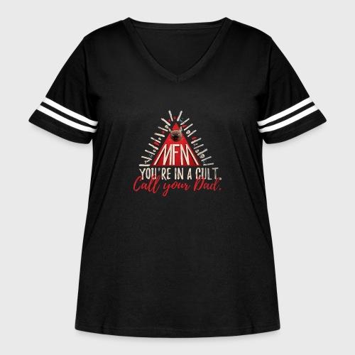 My Favorite Murder - Women's Curvy Vintage Sport T-Shirt