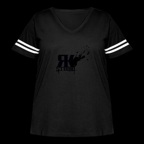 RKStudio Black Version - Women's Curvy Vintage Sport T-Shirt
