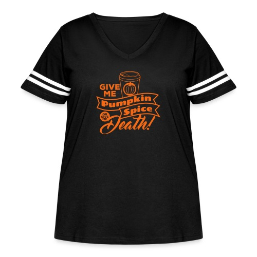 Pumpkin Spice Latte Fun - Women's Curvy Vintage Sport T-Shirt