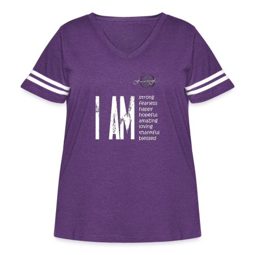 I AM ... Feminine and Fierce - Women's Curvy Vintage Sport T-Shirt