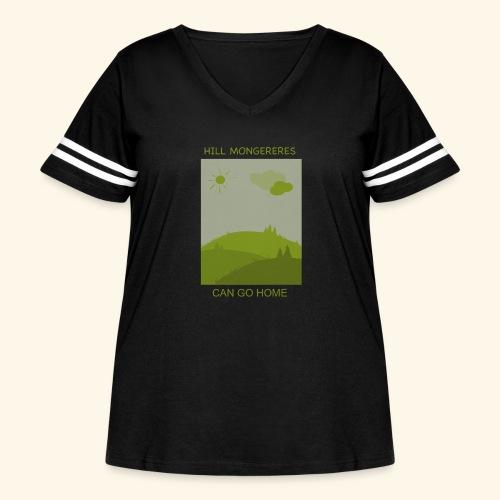 Hill mongereres - Women's Curvy Vintage Sport T-Shirt
