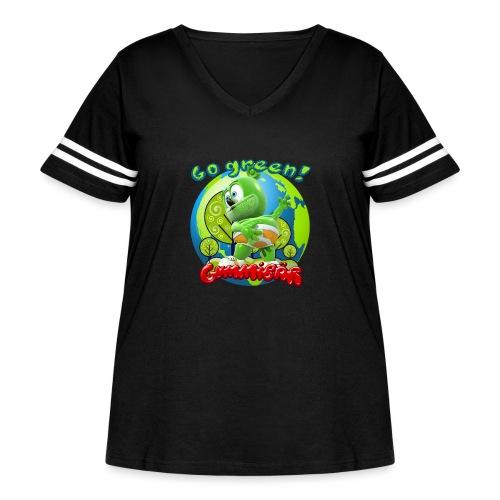 Gummibär Go Green Earth Day Earth - Women's Curvy Vintage Sport T-Shirt