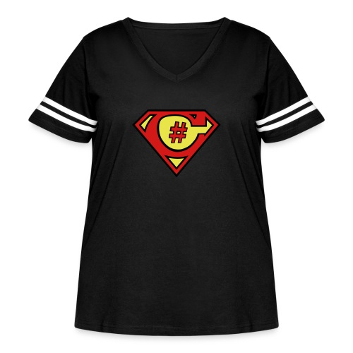 C# Hero Woman - Women's Curvy Vintage Sport T-Shirt