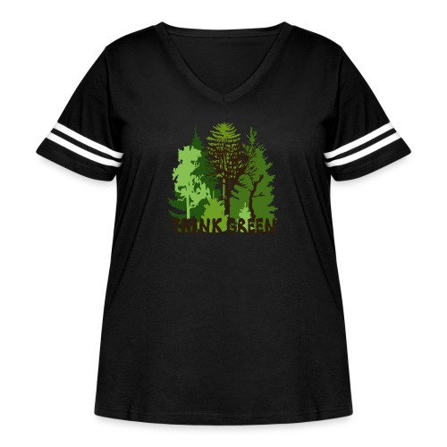 EARTHDAYCONTEST Earth Day Think Green forest trees - Women's Curvy Vintage Sport T-Shirt