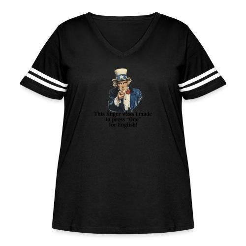 Uncle Sam - Finger - Women's Curvy Vintage Sport T-Shirt