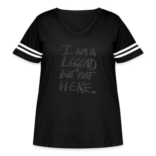 I am a Legend - Women's Curvy Vintage Sport T-Shirt