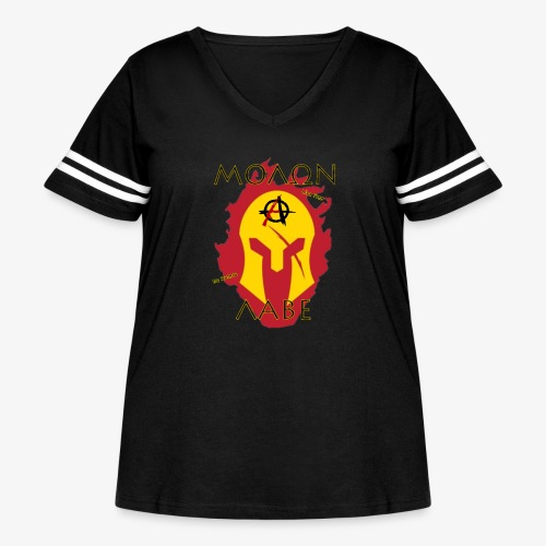Molon Labe - Anarchist's Edition - Women's Curvy Vintage Sports T-Shirt