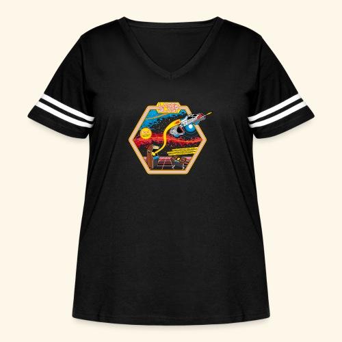 LaserBlast (for darkshirts) - Women's Curvy Vintage Sport T-Shirt