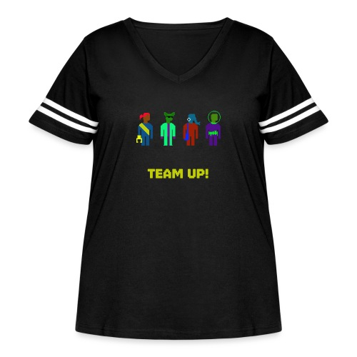 Spaceteam Team Up! - Women's Curvy Vintage Sports T-Shirt