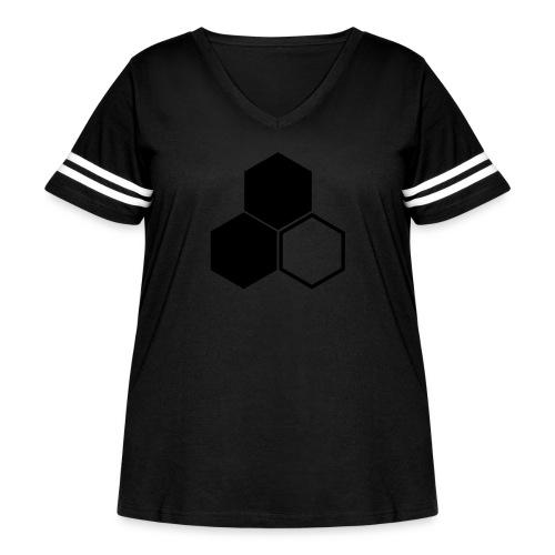F3 Invisible Woman Logo - Women's Curvy Vintage Sport T-Shirt
