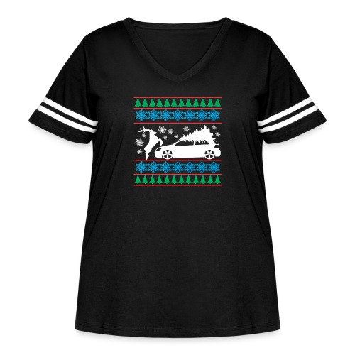 MK6 GTI Ugly Christmas Sweater - Women's Curvy Vintage Sport T-Shirt
