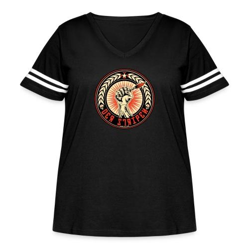 Der Stripen - Women's Curvy Vintage Sport T-Shirt