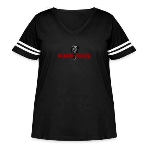 TEAMHEEL PODCAST TEE - Women's Curvy Vintage Sport T-Shirt