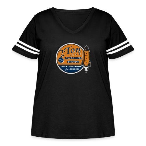 premium tattooing shirt - Women's Curvy Vintage Sport T-Shirt