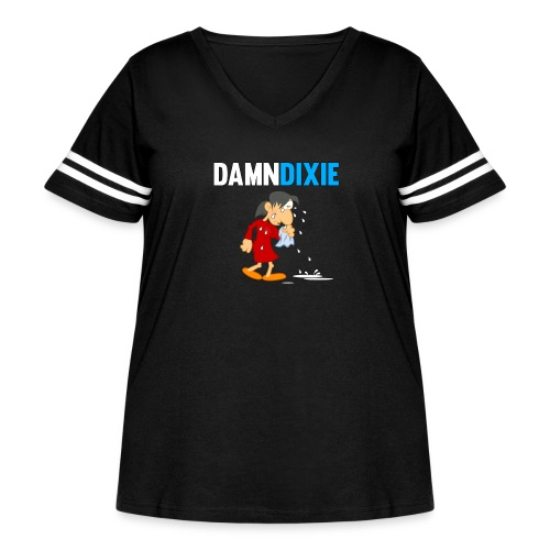 Damn Dixie - Women's Curvy Vintage Sport T-Shirt