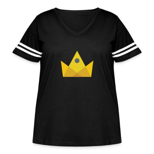 I am the KING - Women's Curvy Vintage Sport T-Shirt