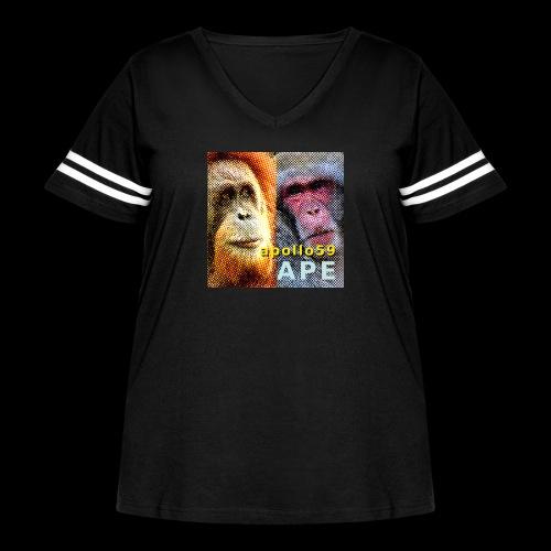 APE - Apollo59 Cover Art - Women's Curvy Vintage Sport T-Shirt