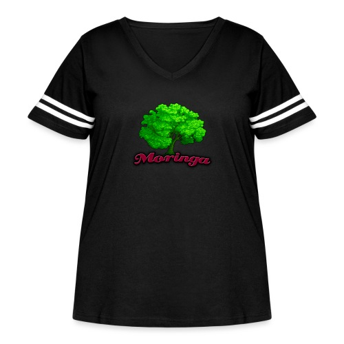 Moringa Games Mug - Women's Curvy Vintage Sport T-Shirt