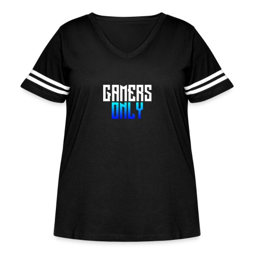 Gamers only - Women's Curvy Vintage Sport T-Shirt