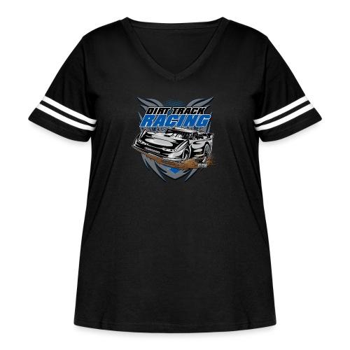 Modified Car Racer - Women's Curvy Vintage Sport T-Shirt
