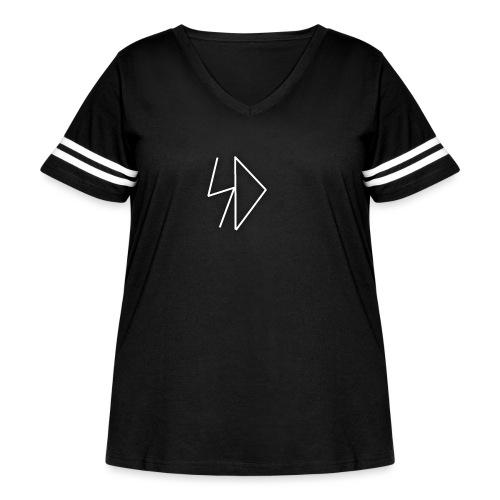 Sid logo white - Women's Curvy Vintage Sport T-Shirt