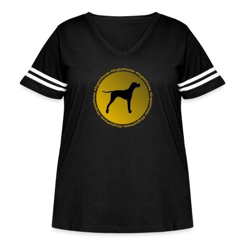 English Pointer - Women's Curvy Vintage Sport T-Shirt