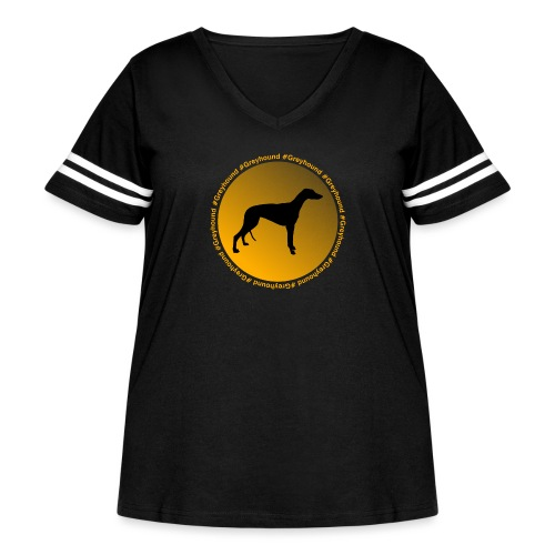 Greyhound - Women's Curvy Vintage Sport T-Shirt