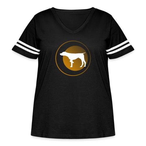 German Shorthaired Pointer - Women's Curvy Vintage Sport T-Shirt