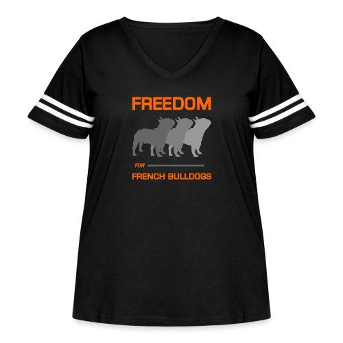 French Bulldogs - Women's Curvy Vintage Sport T-Shirt