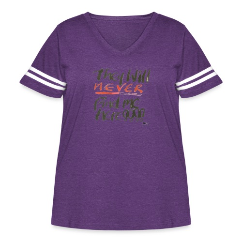 They will never find me here!! - Women's Curvy Vintage Sport T-Shirt