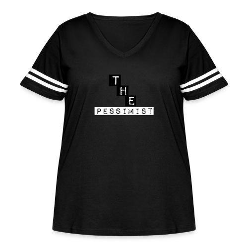 The pessimist Abstract Design - Women's Curvy Vintage Sport T-Shirt
