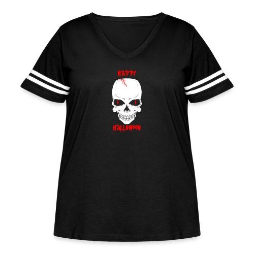 Halloween Skull - Women's Curvy Vintage Sport T-Shirt