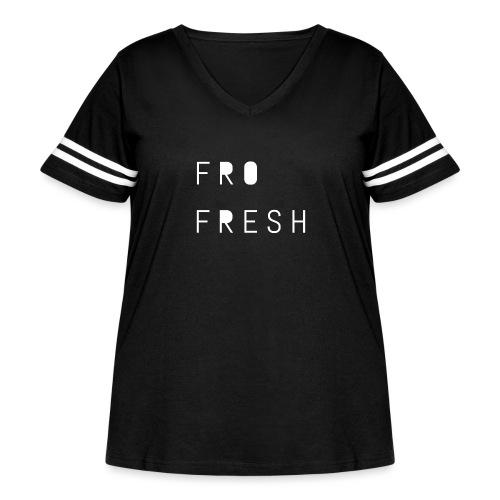 Fro fresh - Women's Curvy Vintage Sport T-Shirt