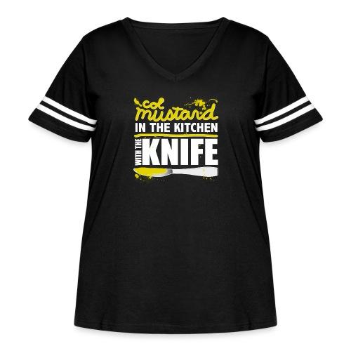 Colonel Mustard - Women's Curvy Vintage Sport T-Shirt