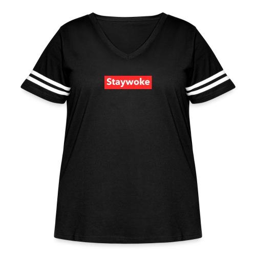 Stay woke - Women's Curvy Vintage Sport T-Shirt