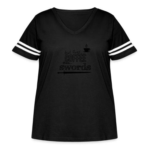 But first coffee - Women's Curvy Vintage Sport T-Shirt