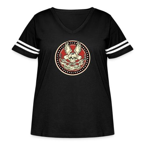 Brush With Death - Women's Curvy Vintage Sport T-Shirt