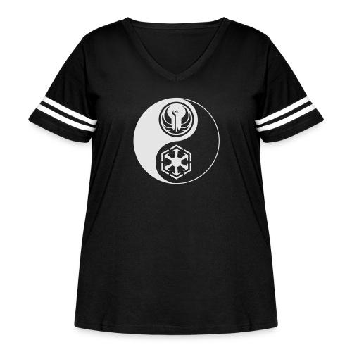 Star Wars SWTOR Yin Yang 1-Color Light - Women's Curvy Vintage Sport T-Shirt