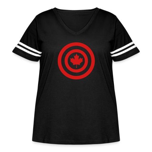 Captain Canada - Women's Curvy Vintage Sport T-Shirt