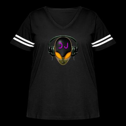 Alien DJ - Orange - Hard Shell Bug - Women's Curvy Vintage Sport T-Shirt