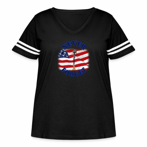 Never Forget - Women's Curvy Vintage Sport T-Shirt