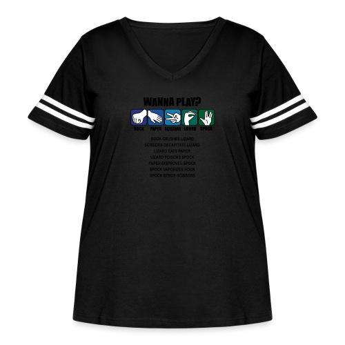 rock paper scissors lizard spock shirt - Women's Curvy Vintage Sport T-Shirt