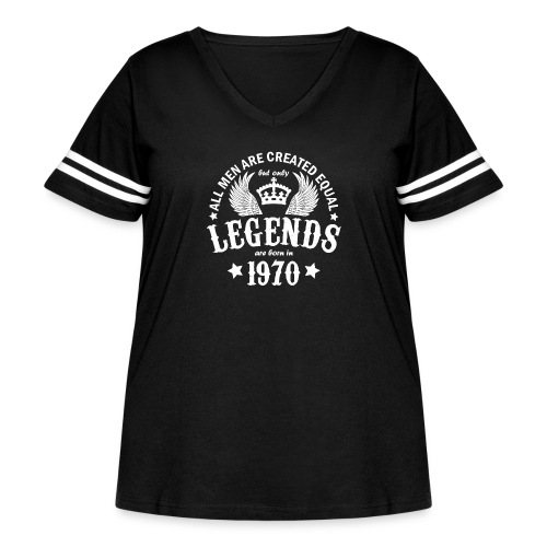 Only Legends are Born in 1970 - Women's Curvy Vintage Sport T-Shirt