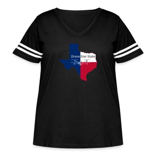 Drone Star State - Women's Curvy Vintage Sport T-Shirt