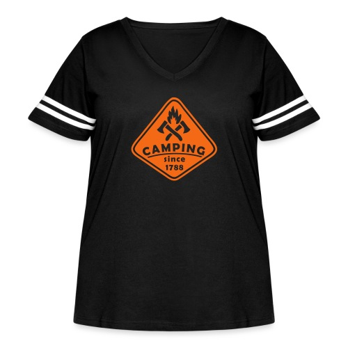 Campfire - Women's Curvy Vintage Sport T-Shirt